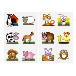 Farm Animals - Pack of 12 Mini Tattoos